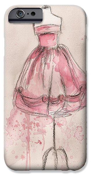 Pink Party Dress iPhone Case by Lauren Maurer
