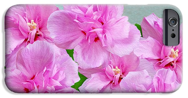 Plant iPhone Cases - Pink Rose of Sharon iPhone Case by Laura D Young