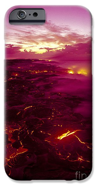 Pink Volcano Sunrise iPhone Case by Ron Dahlquist - Printscapes