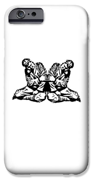 Pinky iPhone Cases - Pinky Swear T-shirt iPhone Case by Edward Fielding