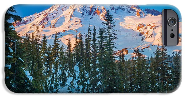 States iPhone Cases - Pinnacle Saddle Winter iPhone Case by Inge Johnsson