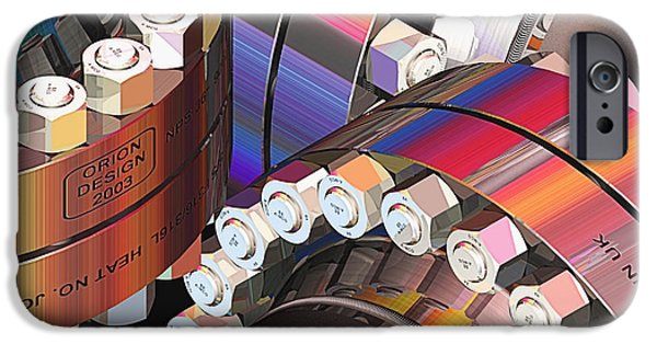 Machinery Mixed Media iPhone Cases - Pipefitters Delight - AMGC23062015 iPhone Case by Michael C Geraghty