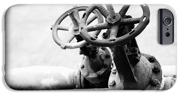 Energy Industry iPhone Cases - Pipeline valves iPhone Case by Gaspar Avila