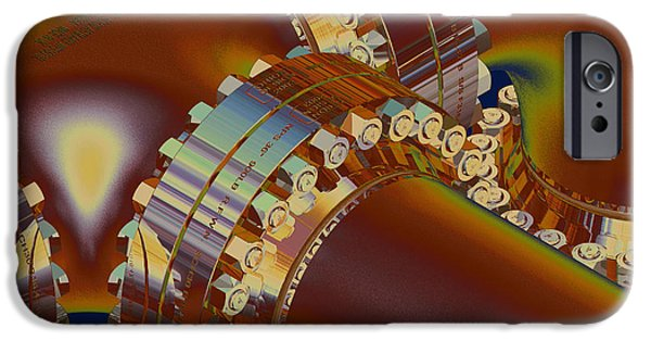 Machinery Mixed Media iPhone Cases - Piping Hot Meltdown - AMCG20062015  iPhone Case by Michael C Geraghty