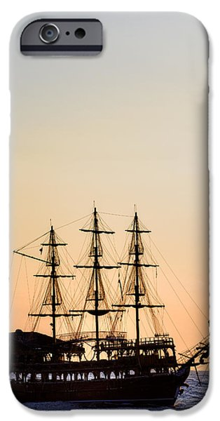 Pirate Ship iPhone Cases - Pirate Boat iPhone Case by Joana Kruse