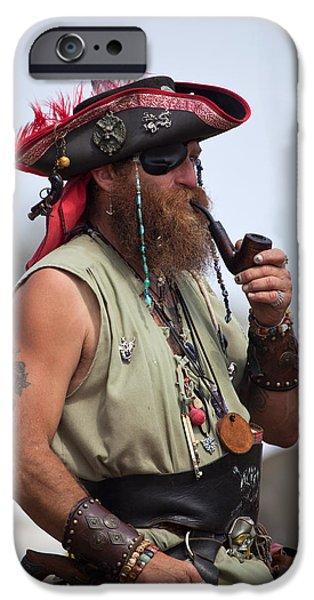 Pirate Ship iPhone Cases - Pirate Peanut Island Florida iPhone Case by Michelle Wiarda