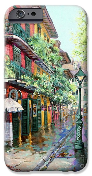 City Scene iPhone Cases - Pirates Alley iPhone Case by Dianne Parks