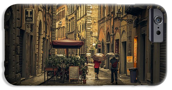 Pathway iPhone Cases - Pisa in the rain iPhone Case by Chris Fletcher