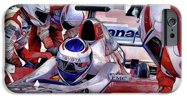 Racing iPhone Cases - Pit Stop iPhone Case by Pennie  McCracken