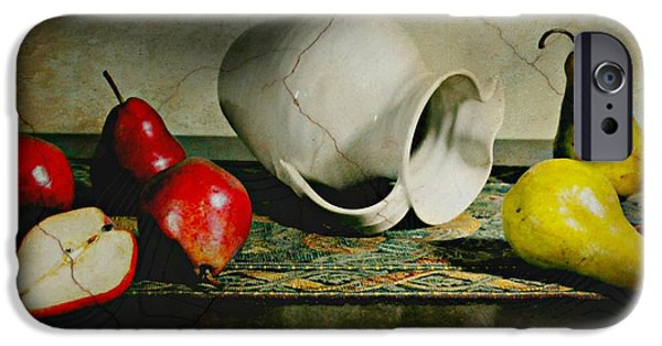 Still Life With Pitcher iPhone Cases - Pitcher Pears iPhone Case by Diana Angstadt
