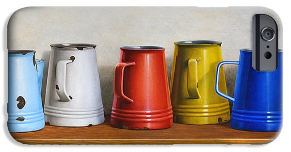 Old Pitcher Paintings iPhone Cases - Pitchers iPhone Case by Horacio Cardozo