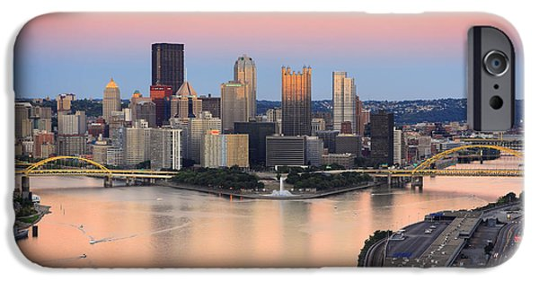 Heinz Field iPhone Cases - Pittsburgh 16 iPhone Case by Emmanuel Panagiotakis