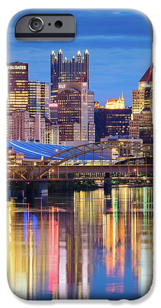 Heinz Field iPhone Cases - Pittsburgh 2 iPhone Case by Emmanuel Panagiotakis