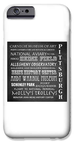 Carnegie Museum Of Art iPhone Cases - Pittsburgh Famous Landmarks iPhone Case by Patricia Lintner
