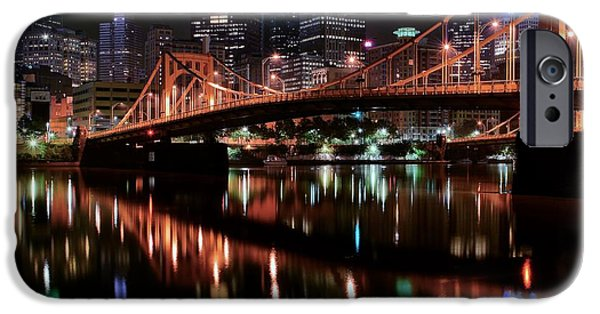 States iPhone Cases - Pittsburgh Full Moon iPhone Case by Frozen in Time Fine Art Photography