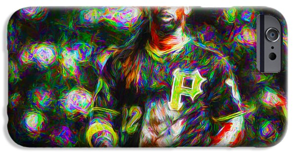 Jab iPhone Cases - Pittsburgh Pirates Andrew McCutchen Painted iPhone Case by David Haskett