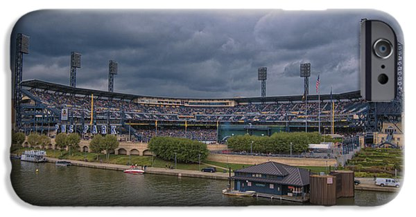 Marine iPhone Cases - Pittsburgh Pirates PNC Park B iPhone Case by David Haskett