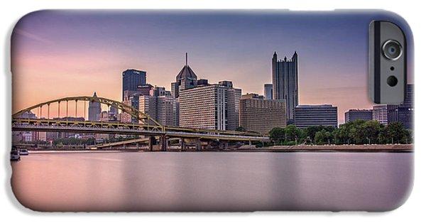 Roberto iPhone Cases - Pittsburgh iPhone Case by Rick Berk