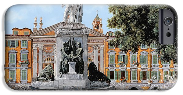 Buy iPhone Cases - Place Garibaldi in Nice iPhone Case by Guido Borelli