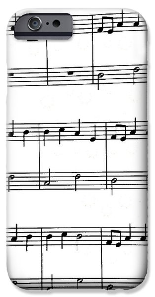 Sheets iPhone Cases - Plain Music iPhone Case by Bill Owen