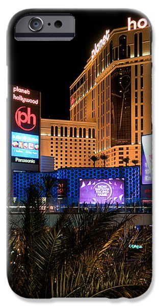 Planet Hollywood Hotel iPhone Case by Andy Smy