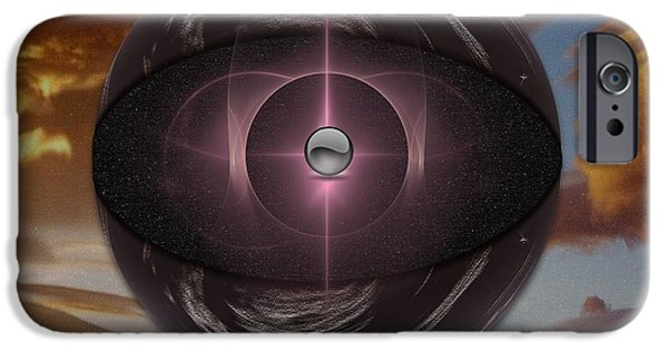 Abstract Digital Art iPhone Cases - Planetoid iPhone Case by Mario Carini