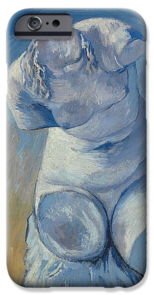 Sculpture iPhone Cases - Plaster Statuette Female Torso iPhone Case by Vincent Van Gogh