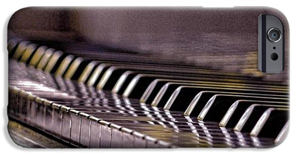 Piano iPhone Cases - Platinum Keys iPhone Case by Heryn Donald
