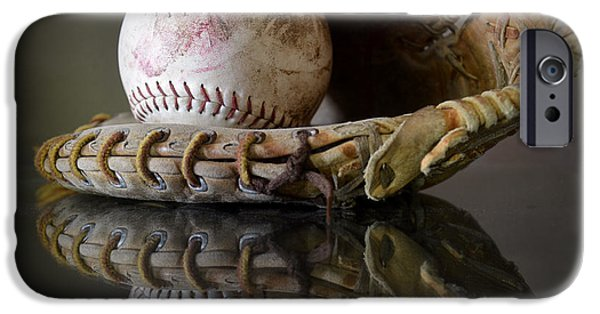 Baseball Glove iPhone Cases - Play Ball iPhone Case by Pam Walker