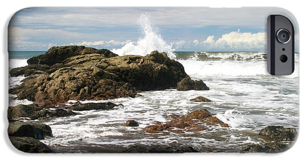 Natural Forces iPhone Cases - Playa Hermosa Pacific Coast Costa Rica iPhone Case by Michelle Wiarda