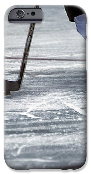 Player and Puck iPhone Case by Karol  Livote