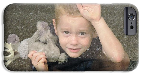 Rainy Day iPhone Cases - Playing Inside iPhone Case by Beth Williams