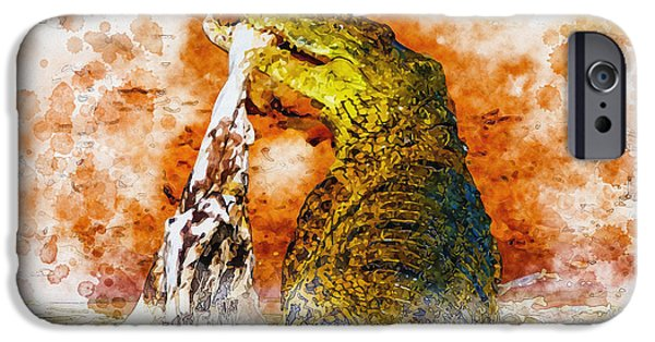 Tree Art Print iPhone Cases - Playing with his food iPhone Case by Don Kuing