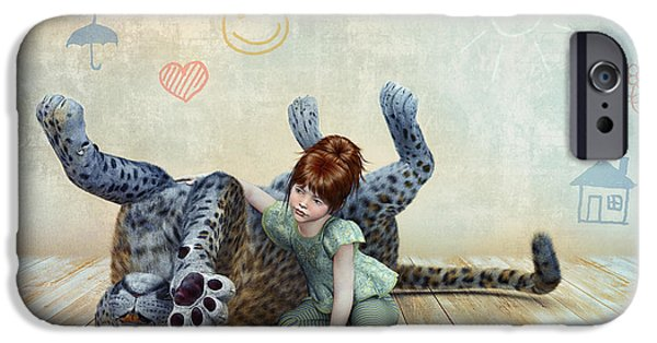 Abnormal iPhone Cases - Playmate iPhone Case by Jutta Maria Pusl