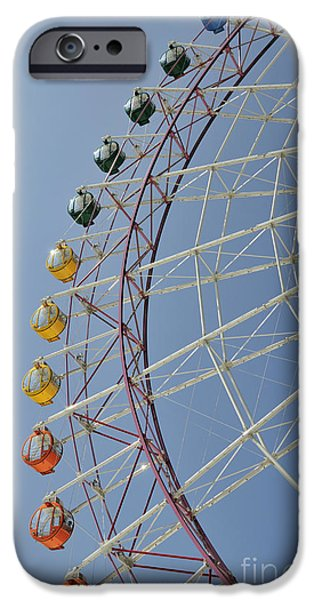 Japan Town iPhone Cases - Pleasure Town ferris wheel iPhone Case by Andy Smy