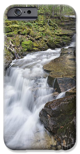 New England Snow Scene iPhone Cases - Plimpton Falls - White Mountains New Hampshire USA  iPhone Case by Erin Paul Donovan