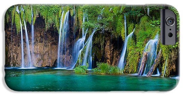States iPhone Cases - Plitvice Panorama iPhone Case by Inge Johnsson