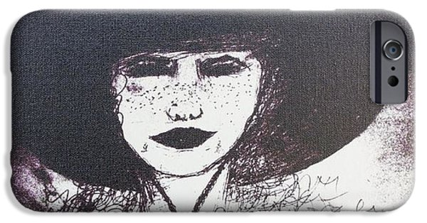 Plum Drawings iPhone Cases - Plum Gorgeous iPhone Case by Susan Gahr