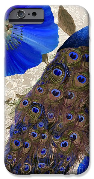 Peafowl iPhone Cases - Plumage iPhone Case by Mindy Sommers