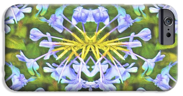 Abstract Digital Photographs iPhone Cases - Plumbagoed iPhone Case by Laura Ragland
