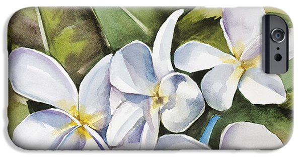 Art Medium iPhone Cases - Plumeria II iPhone Case by Han Choi - Printscapes