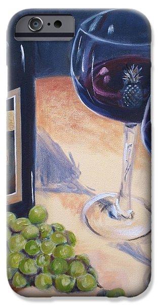 Red Wine iPhone Cases - Plungerhead iPhone Case by Donna Tuten