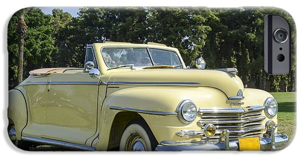 1949 Plymouth iPhone Cases - Plymouth convertible  iPhone Case by Amir Paz