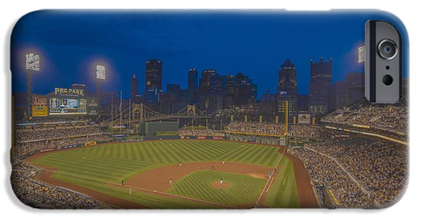Marine iPhone Cases - PNC Park Pittsburgh Pirates C iPhone Case by David Haskett