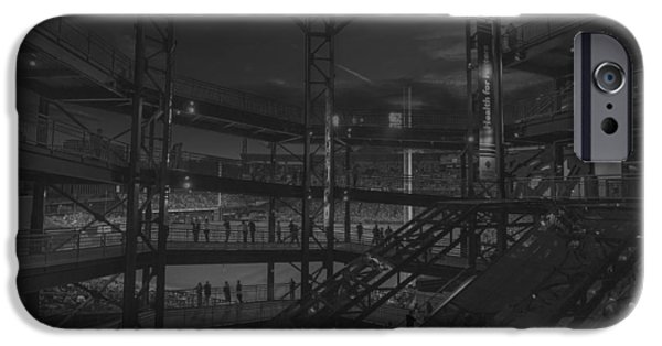 Marine iPhone Cases - PNC Park Pittsburgh Pirates  iPhone Case by David Haskett
