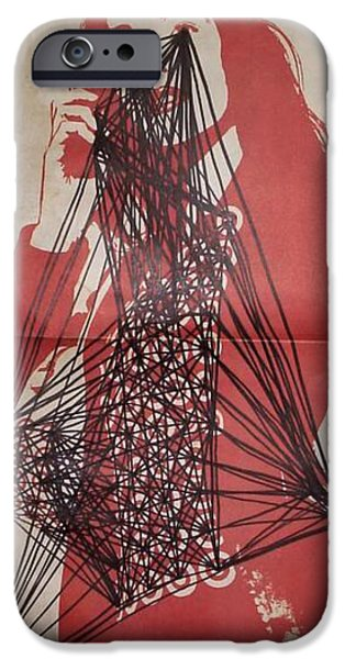 Etc. Drawings iPhone Cases - Point And Line Composition  iPhone Case by William Douglas