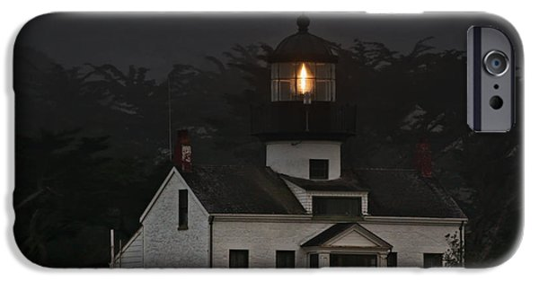 Coast Highway One iPhone Cases - Point Pinos Lighthouse CA iPhone Case by Christine Till