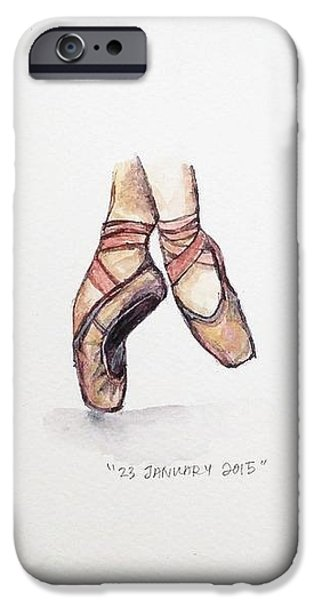 Shoe iPhone Cases - Pointe on Friday iPhone Case by Venie Tee