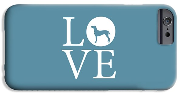 Weimaraners iPhone Cases - Pointer Love iPhone Case by Nancy Ingersoll