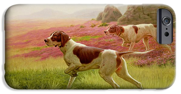 Fl iPhone Cases - Pointers in a Landscape iPhone Case by Harrington Bird